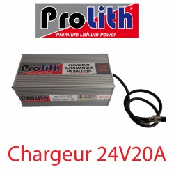 Chargeur LifePo4 24Volts 20A