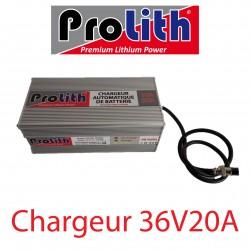Chargeur LiP 36Volts 20A